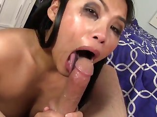 Gagging Asian Sensation Cindy Starfall Loves The Dick