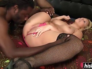 Incredible Blonde In Stockings Likes His Bbc