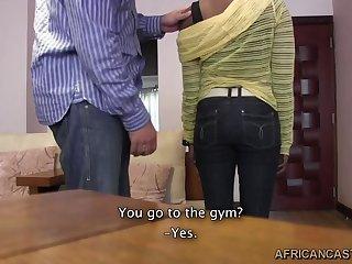 African Casting Sasha Blowjob