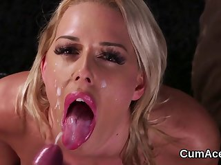Naughty Hottie Gets Sperm Load On Her Face Sucking All 720p