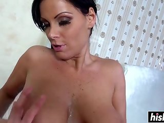 Girl With Big Tits Plays With A Dick