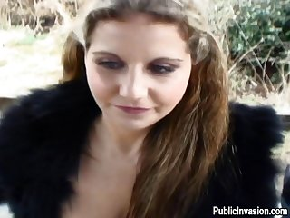 Sexy Babe Is Getting Her Taut Cunt Fucked Outdoors