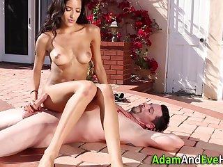 Sexy Latina Milking Her Aroused Man