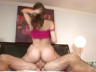 Playful Brunette Hoe Lexi Bloom Rides Like A Pro Cowgirl