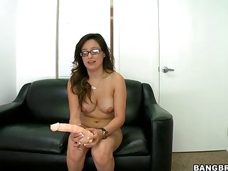 Ugly Whore Linda Lay Pokes Her Twat With A Dildo And Gets Hammered Hard Doggy Style With A Real One