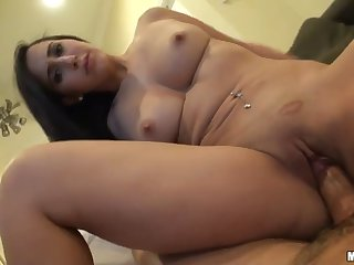 Kinky Brunette Valerie Kay Plays With A Jizz In Her Mouth And Later Rides The Cock On Top