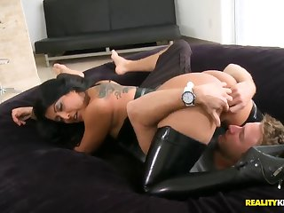 Super Hot Latina Brunette With Big Boobs And Sweet Ass Gets Licked And Fucked