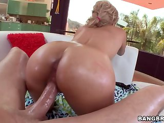 Tinslee Reagan Pushes Her Anal Hole Back On His Cock